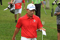 Sunghoon Kang (Asia) walking to the 2nd tee during the Singles Matches of the Eurasia Cup at Glenmarie Golf and Country Club on the Sunday 14th January 2018.<br /> Picture:  Thos Caffrey / www.golffile.ie