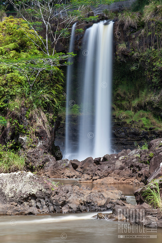 Pe'epe'e Falls waterfall, Hilo, Big Island.