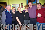 Tom O'Connell, Margaret Boland, Joan O' Connell, Noreen and John Culhane and Joe Boland, enjoying the fun at the new year celebrations at the Saddle bar Listowel. .