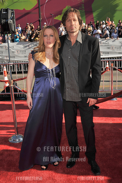 "Gillian Anderson & David Duchovny at the world premiere of their new movie ""The X-Files: I Want To Believe"" at Grauman's Chinese Theatre, Hollywood..July 23, 2008  Los Angeles, CA.Picture: Paul Smith / Featureflash"