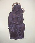 A4TR83 Madonna and child Clare Priory Suffolk England