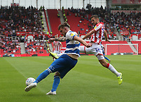 Queens Park Rangers' Ryan Manning and Stoke City's Tommy Smith <br /> <br /> Photographer Stephen White/CameraSport<br /> <br /> The EFL Sky Bet Championship - Stoke City v Queens Park Rangers - Saturday 3rd August 2019 - bet365 Stadium - Stoke-on-Trent<br /> <br /> World Copyright © 2019 CameraSport. All rights reserved. 43 Linden Ave. Countesthorpe. Leicester. England. LE8 5PG - Tel: +44 (0) 116 277 4147 - admin@camerasport.com - www.camerasport.com