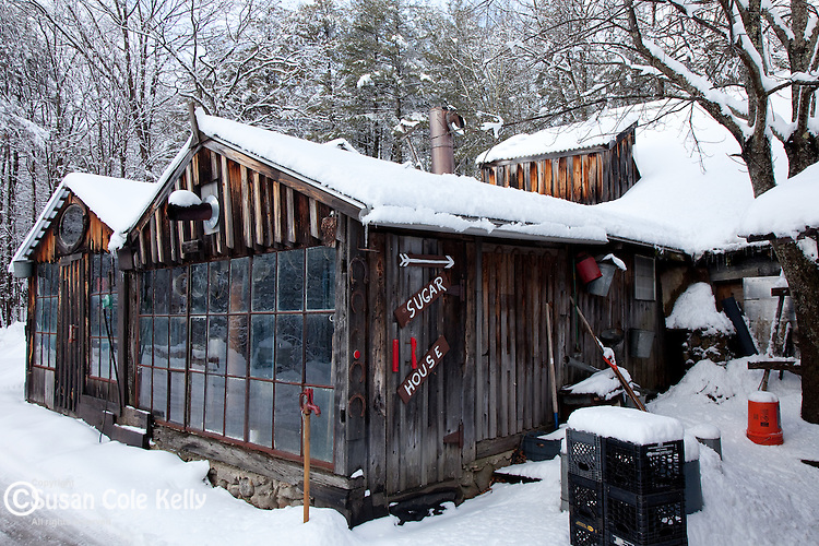 The sugar house at Parker's Maple Barn in Mason, NH, USA
