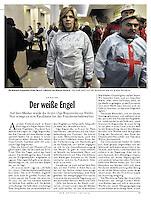 German weekly magazine DER SPIEGEL on the Euromaidan unrest, Kiev, Ukraine, 03.2014.<br /> Picture: Genya Savilov