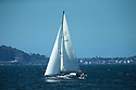 Yachting community take advantage of the sunny weather on Belfast Lough, Northern Ireland, Monday, June 10, 2019.  (Photo by Paul McErlane for Belfast Telegraph)