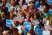 Crowd celebrates the arrival of United States President Barack Obama at the 2012 Democratic National Convention in Charlotte, North Carolina on Thursday, September 6, 2012.  .Credit: Ron Sachs / CNP.(RESTRICTION: NO New York or New Jersey Newspapers or newspapers within a 75 mile radius of New York City)