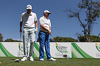 Vaughn Groenewald (RSA) and Mark Murless (RSA) on ear to play from the 4th tee during the practice day ahead of the Tshwane Open 2015 at the Pretoria Country Club, Waterkloof, Pretoria, South Africa. Picture:  David Lloyd / www.golffile.ie. 10/03/2015