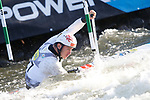 28th September 2019; Canal Olimpic del Segre, La Seu d'Urgell, Catalonia, Spain; ICF Canoe Slalom, World Championships, MC1 Men's Canoe canoe. Picture show Vojech Heger (CZE) in action