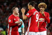 Zlatan Ibrahimovic, Wayne Rooney e  Marouane Fellaini   Manchester<br /> Manchester 19-08-2016<br /> Premier League,<br /> Manchester United - Southampton <br /> Foto Darren Staples/Panoramic/Insidefoto