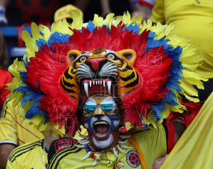 BARRANQUILLA -COLOMBIA, 23-MARZO-2017.Fans of Colombia before martch Colombia an Bolivia match for the qualifiers for the World Cup of Soccer Russia 2018 played in the  Metropolitano Roberto Melendez stadium in Barranquilla . Photo:VizzorImage / Felipe Caicedo  / Staff