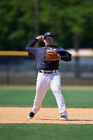 New York Yankees Andrews Chaparro (72) during a Minor League Spring Training game against the Detroit Tigers on March 21, 2018 at the New York Yankees Minor League Complex in Tampa, Florida.  (Mike Janes/Four Seam Images)