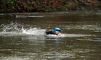 Pictured: Divers search in the river Ogmore near Stormy Down, Wales, UK. Tuesday 22 November 2016<br /> Re: The search has resumed for Russell Sherwood, 69, who went missing in river Ogmore, Bridgend County on Sunday.<br /> Sherwood, of Cilfrew, Neath, was heading for Ewenny in the Vale of Glamorgan during heavy rain in the morning but never arrived.<br /> He disappeared at Stormy Down and car parts were found on the river bank.<br /> South Wales Police have confirmed registration plates recovered from a bumper match Mr Sherwood's car.