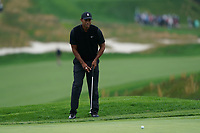 Tiger Woods (USA) on the 5th green during the 2nd round at the PGA Championship 2019, Beth Page Black, New York, USA. 18/05/2019.<br /> Picture Fran Caffrey / Golffile.ie<br /> <br /> All photo usage must carry mandatory copyright credit (&copy; Golffile | Fran Caffrey)