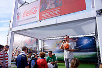Harrison, NJ - Friday Sept. 01, 2017: Coca-Cola, Jimmy Conrad prior to a 2017 FIFA World Cup Qualifier between the United States (USA) and Costa Rica (CRC) at Red Bull Arena.