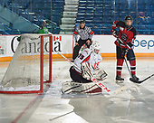 Sudbury, ON - April 24 2018 - Game 5 - Lethbridge Hurricanes vs Moncton Flyers the 2018 TELUS Cup at the Sudbury Community Arena in Sudbury, Ontario, Canada (Photo: Matthew Murnaghan/Hockey Canada)