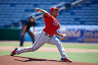 Philadelphia Phillies pitcher Mauricio Llovera (86) delivers a pitch during a Florida Instructional League game against the Toronto Blue Jays on September 24, 2018 at Spectrum Field in Clearwater, Florida.  (Mike Janes/Four Seam Images)