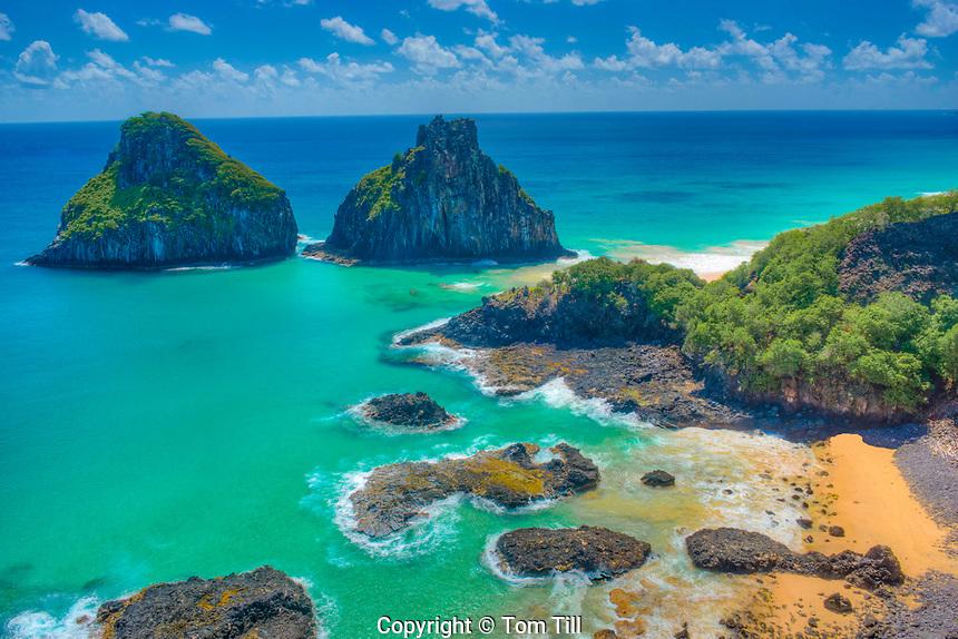 The Two Brothers Beach, Fernando De Noronha National Marine Park, Brazil, Fernando De Noronha Island   UNESCO World Heritage,
