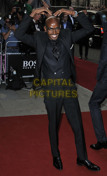 LONDON, ENGLAND - SEPTEMBER 02: Mo Farah attends the GQ Men of the Year Awards 2014, Royal Opera House, Covent Garden, on Tuesday September 02, 2014 in London, England, UK. <br /> CAP/CAN<br /> &copy;Can Nguyen/Capital Pictures