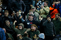 Preston North End fans taunt the Leeds United fans after their side took the lead<br /> <br /> Photographer Alex Dodd/CameraSport<br /> <br /> The EFL Sky Bet Championship - Preston North End v Leeds United - Tuesday 22nd October 2019 - Deepdale Stadium - Preston<br /> <br /> World Copyright © 2019 CameraSport. All rights reserved. 43 Linden Ave. Countesthorpe. Leicester. England. LE8 5PG - Tel: +44 (0) 116 277 4147 - admin@camerasport.com - www.camerasport.com