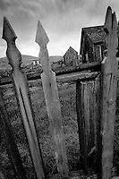 Picket fence at Bannack State Park, Montana.