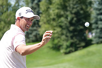 Adam Scott (AUS) in action during the final round of the Northern Trust played at Liberty National Golf Club, Jersey City, USA. 11/08/2019<br /> Picture: Golffile | Phil INGLIS<br /> <br /> All photo usage must carry mandatory copyright credit (© Golffile | Phil INGLIS)
