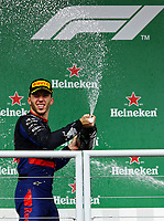17th November 2019; Autodromo Jose Carlos Pace, Sao Paulo, Brazil; Formula One Brazil Grand Prix, Race Day; Second place, Pierre Gasly (FRA) Red Bull Racing RB15 - Editorial Use