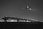 Plane approaching Haneda airport, Tokyo