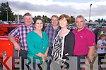 Glin and Ballyhahill friends Mike Cullane, Kay Scanlan, Jerry Long, Maura McMahon and Mike Flaherty pictured last Sunday at the annual Knockdown Vintage Rally.