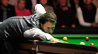 Judd Trump on his way to clinching the win during the Dafabet Masters Quarter Final 2 match between Judd Trump and Neil Robertson at Alexandra Palace, London, England on 15 January 2016. Photo by Liam Smith / PRiME Media Images.