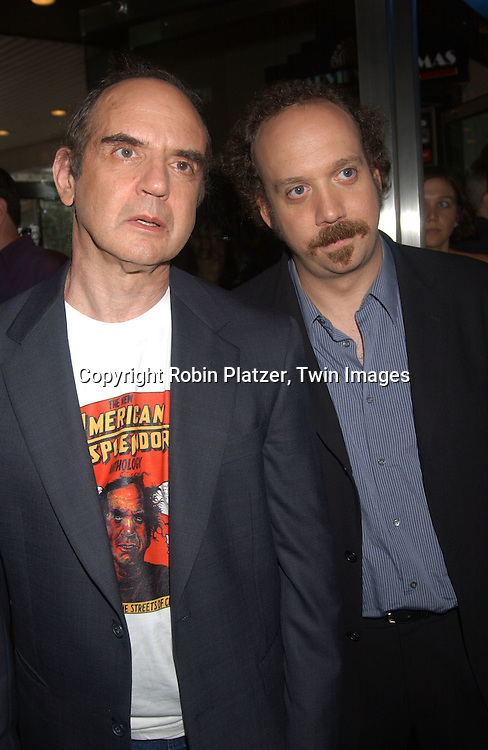 "Pekar and Giametti                             ..at The Premiere of ""American Splendor"" in New York City ..on August 12, 2003....Robin Platzer, Twin Images"