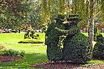 A re-creation in sculpted shrubbery of French artist Georges Seurat's famous painting, &quot;A Sunday Afternoon on the Ile De La Grande Jatte.&quot;<br />