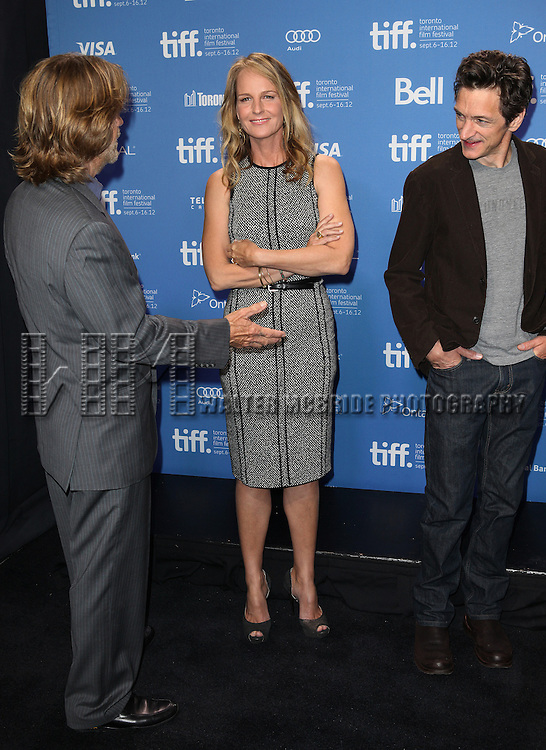 Helen Hunt & William H. Macy & John Hawkes attending the The 2012 Toronto International Film Festival.Photo Call for 'The Sessions' at the TIFF Bell Lightbox in Toronto on 9/9/2012