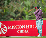 Saraporn Chamchoi of Thailand tees off at the 13th hole during Round 2 of the World Ladies Championship 2016 on 11 March 2016 at Mission Hills Olazabal Golf Course in Dongguan, China. Photo by Victor Fraile / Power Sport Images
