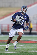 College Park, MD - February 25, 2017: Yale Bulldogs Tyler Warner (13) in action during game between Yale and Maryland at  Capital One Field at Maryland Stadium in College Park, MD.  (Photo by Elliott Brown/Media Images International)