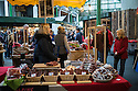 London, UK. 15.11.2014. Cured meats and saucisses stall at Borough Market. Photograph © Jane Hobson.