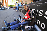 Photographer Yuzuru Sunada working hard on the San Luca climb during Stage 1 of the 2019 Giro d'Italia, an individual time trial running 8km from Bologna to the Sanctuary of San Luca, Bologna, Italy. 11th May 2019.<br /> Picture: Eoin Clarke | Cyclefile<br /> <br /> All photos usage must carry mandatory copyright credit (© Cyclefile | Eoin Clarke)