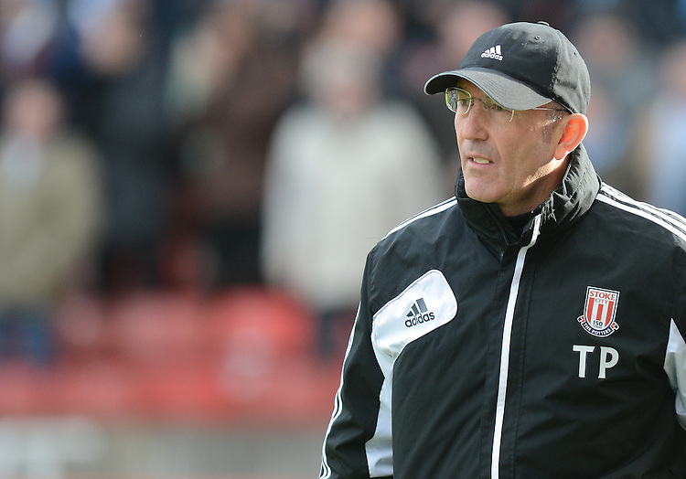 Stoke City's Manager Tony Pulis . - Credit - CameraSport - Ian Cook - ..Football - FA Challenge Cup Fourth Round - Stoke City v Manchester City - Saturday 26th January 2013 - Britannia Stadium - Stoke..
