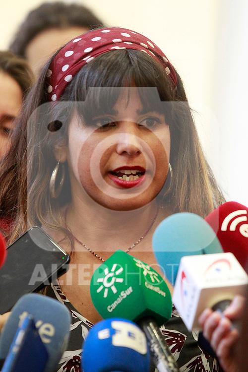 The leader of Podemos Andalucia, Maria Teresa Rodriguez, during the Consejo Ciudadano Estatal - State Citizen Council of Podemos. (ALTERPHOTOS/Acero)