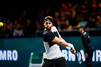 Rotterdam, The Netherlands, 11 Februari 2020, ABNAMRO World Tennis Tournament, Ahoy, <br /> Nikoloz Basilashvili (GEO).<br /> Photo: www.tennisimages.com