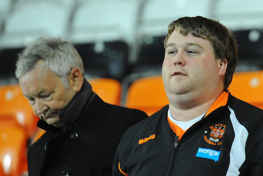 Blackpool fans look dejected at the final whistle<br /> <br /> Photographer Kevin Barnes/CameraSport<br /> <br /> Football - The Football League Sky Bet League One - Blackpool v Burton Albion - Tuesday 18th August 2015 - Bloomfield Road - Blackpool<br /> <br /> &copy; CameraSport - 43 Linden Ave. Countesthorpe. Leicester. England. LE8 5PG - Tel: +44 (0) 116 277 4147 - admin@camerasport.com - www.camerasport.com