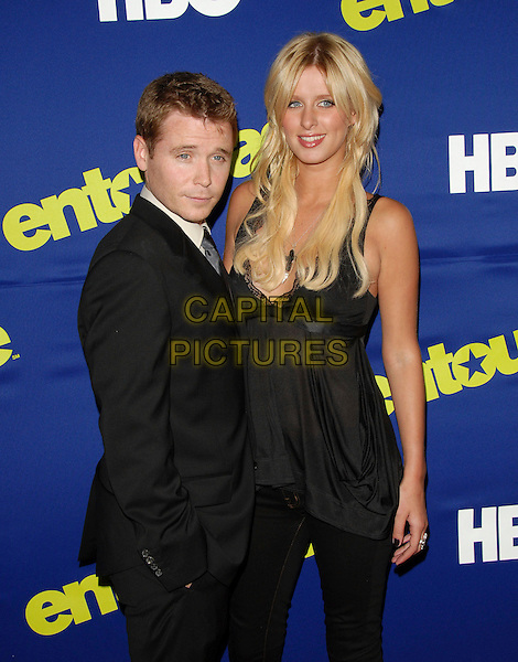 KEVIN CONNOLLY & NICKY HILTON .HBO'S Premiere of Entourage Season 3 held at The Arclight Theatre in Hollywood, California, USA..June 1st, 2006.Ref: DVS.Nikki Nicki half length black suit jacket top.www.capitalpictures.com.sales@capitalpictures.com.Supplied By Capital PIctures