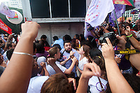 SÃO PAULO,SP, 08.03.2016 - DIA-MULHER - Tumulto e confusão entre manifestantes contra e a favor do governo da presidente Dilma Rousseff no ato do Dia Internacional das Mulher, no vão livre do Masp, na avenida Paulista, nesta terça-feira, 08. (Foto: Gabriel Soares/Brazil Photo Press)