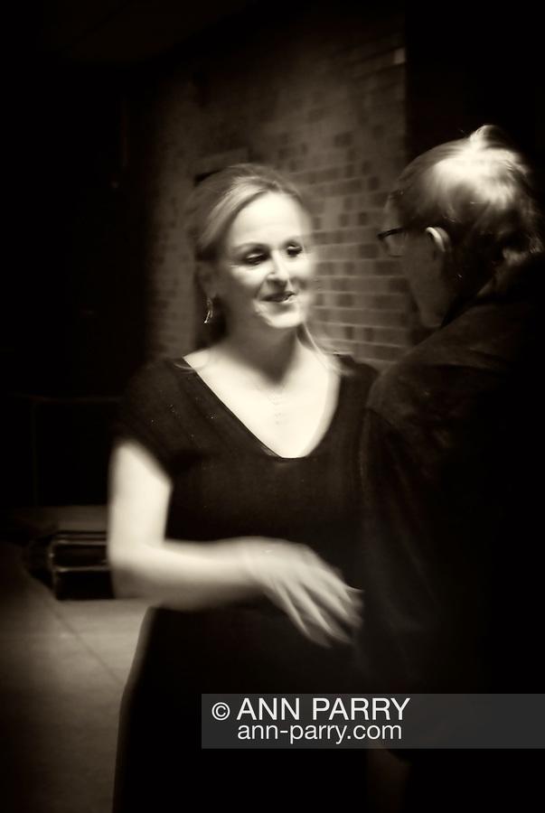 MERRICK - NOV. 13: Marilyn Sherman Lehman, pianist, after performing with Stanley Drucker and Naomi Drucker in concert presented by Merrick-Bellmore Community Concert Association, November 13, 2010, in Merrick, NY, USA