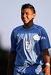 31 August 2012: UNC's Mikey Lopez. The University of North Carolina Tar Heels defeated the West Virginia University Mountaineers 1-0 at Fetzer Field in Chapel Hill, North Carolina in a 2012 NCAA Division I Men's Soccer game.
