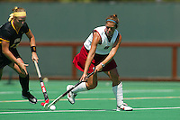 2 September 2005: Hillary Braun during Stanford's 3-1 loss to the University of Iowa at the Varsity Turf Field in Stanford, CA.