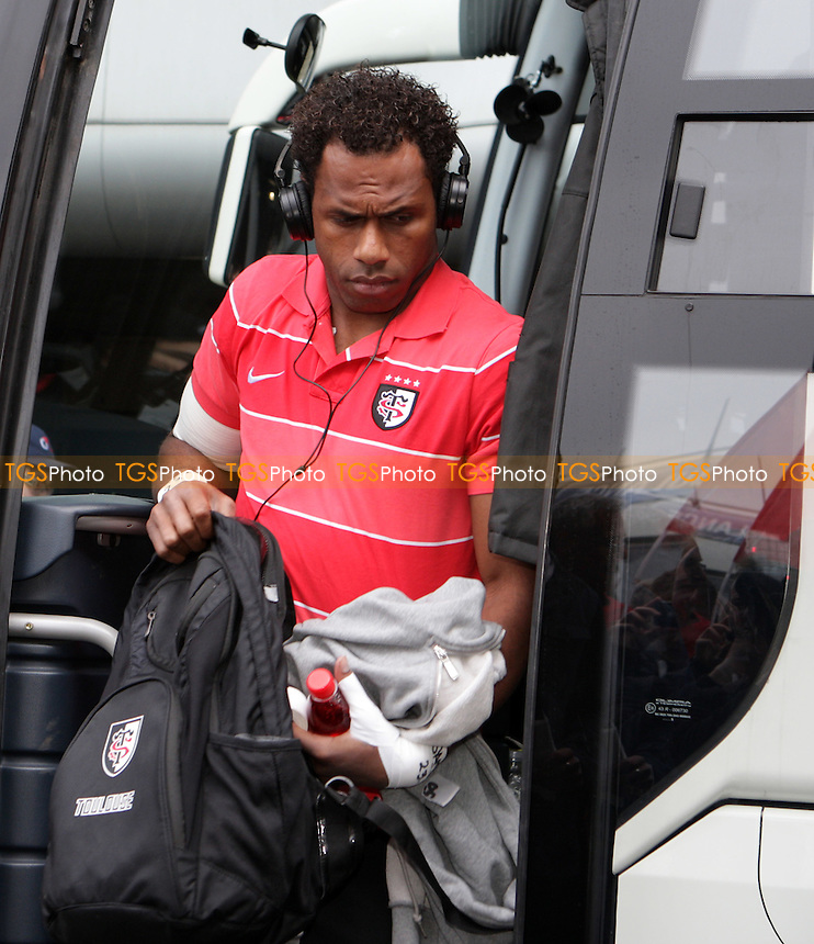 Timoci Matanavou  of Toulouse arrives on the team bus - Edinburgh Rugby vs Toulouse - Heineken Cup Quarter-Final Rugby at Murrayfield Stadium - 07/04/12 - MANDATORY CREDIT: Helen Watson/TGSPHOTO - Self billing applies where appropriate - 0845 094 6026 - contact@tgsphoto.co.uk - NO UNPAID USE.