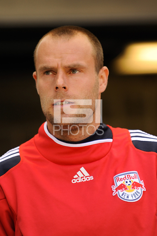 Joel Lindpere (20) of the New York Red Bulls. The New York Red Bulls defeated the Philadelphia Union 2-1 during a Major League Soccer (MLS) match at Red Bull Arena in Harrison, NJ, on April 24, 2010.