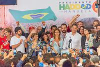 SÃO PAULO, SP, 28.10.2018 - ELEIÇÕES-2018 - O candidato à presidência do Brasil, Fernando Haddad (PT) durante entrevista coletiva após derrota no segundo turno no Hotel Pestana, neste domingo, 28, no bairro do Paraíso em São Paulo. (Foto: Anderson Lira/Brazil Photo Press)
