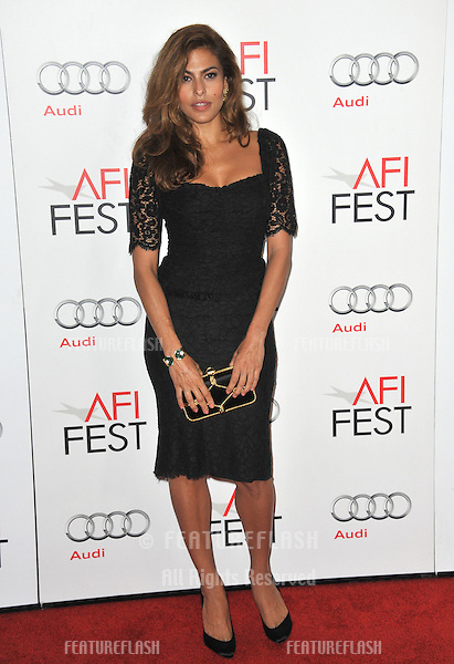 "Eva Mendes at the AFI Fest premiere of her movie ""Holy Motors"" at Grauman's Chinese Theatre, Hollywood..November 3, 2012  Los Angeles, CA.Picture: Paul Smith / Featureflash"