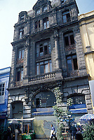 An old building in the historic center of Mexico City.